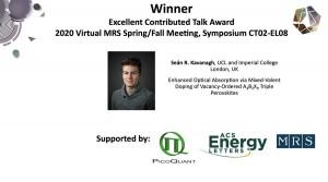 Kavanagh-MRS-Boston-2020-Talk-prize
